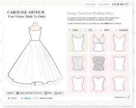 Design your own wedding dress quot and blog website design surrey