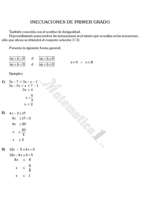 texto de matematica para primer grado de secundaria 2016 peru inecuaciones de primer grado
