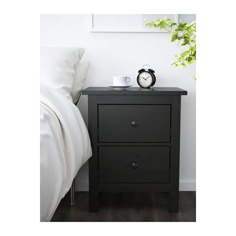 Hemnes Chest Of 2 Drawers by Hemnes Chest Of 2 Drawers Black Brown 54x66 Cm