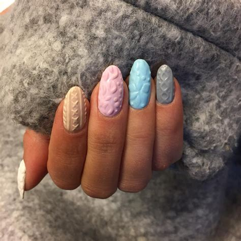knit pattern nails cozy knit nail trend matches perfectly with your winter