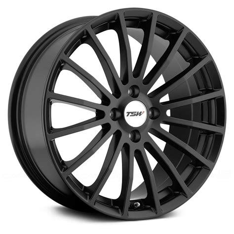 black wheels tsw 174 mallory wheels matte black rims