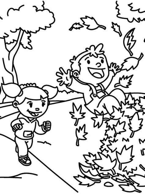 coloring pages of raking leaves free coloring pages of raking leaves