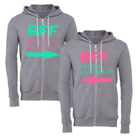 Sweater Hoodie Zipper Chain 2 bff floral print grey sweatshirts from 365 printing inc