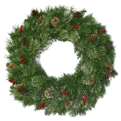 christmas tree with berries national tree company 30 in unlit cone and berry decorated artificial wreath with