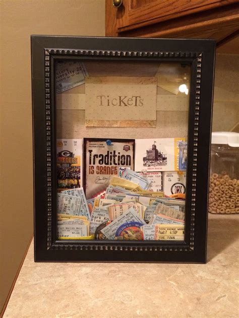 ticket stub shadow box shadow box  hobby lobby easy