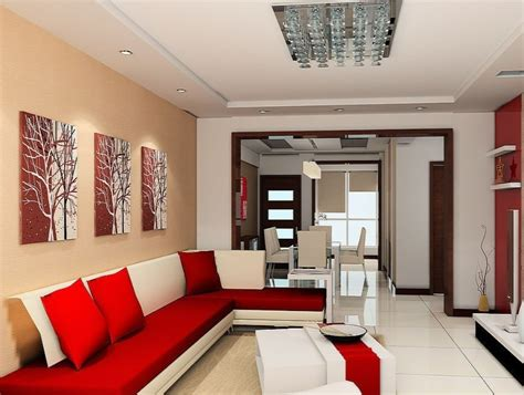 red wall living room red sofa background wall in living room 3d house free