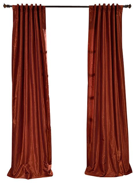 burnt orange drapes burnt orange vintage textured faux dupioni silk curtain