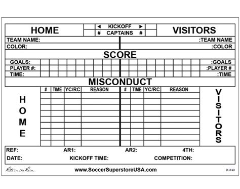 soccer report card template soccer referee score card