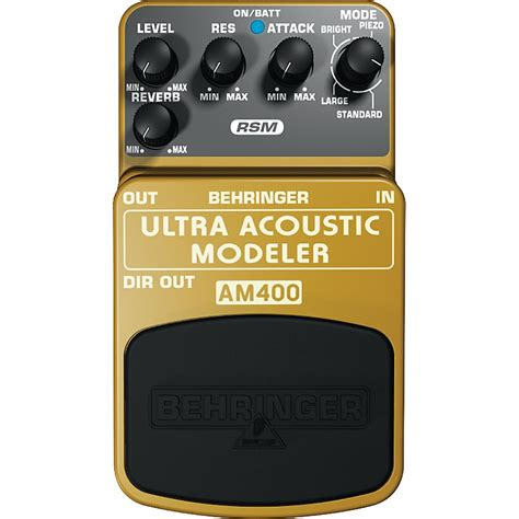 Behringer Guitar Stompboxes Ultra Acoustic Modeler Am400 behringer am400 ultra acoustic modeler guitar modeling effects pedal musician s friend