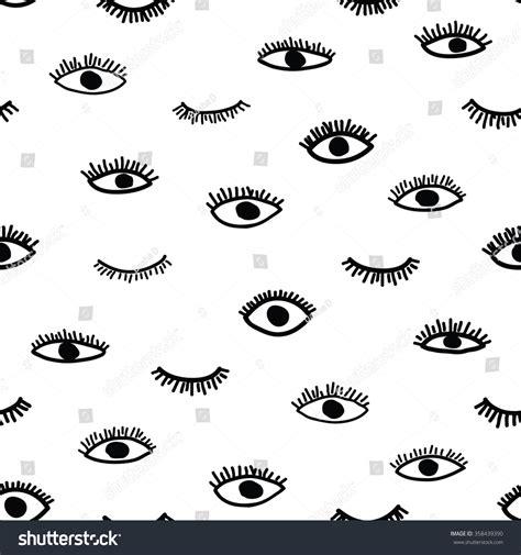 eye pattern website vector seamless pattern bohemian style repeating stock