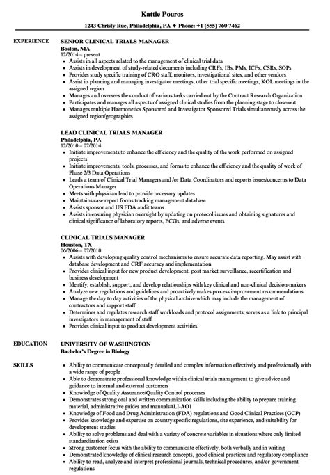 Recruitment Manager Resume Sample by Contract Clinical Research Associate Sample Resume Fitness