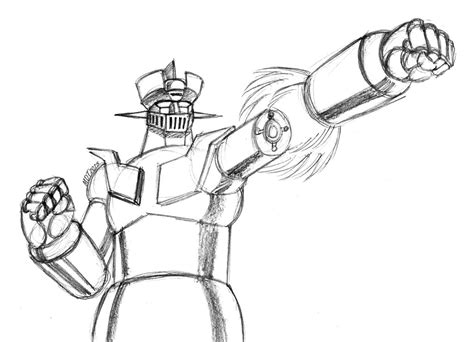 Mazinger Z Drawing by Mazinger Z Rocket Punch By Mdtartist83 On Deviantart
