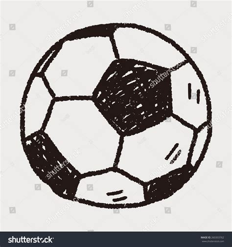 doodle football doodle soccer stock vector 260303762
