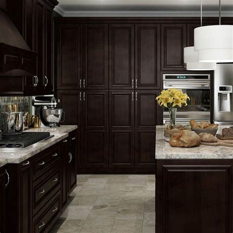 Kitchens With Dark Brown Cabinets by Cabinet And Cabinet Hardware