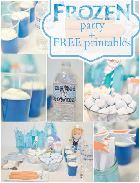 printable party decorations frozen frozen party printables our thrifty ideas