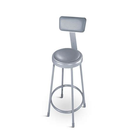 Padded Stool With Backrest by National Seating 6430b 30 Quot Padded Lab Stool