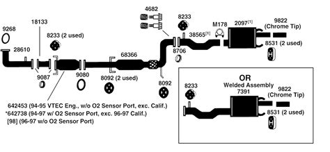 2004 honda accord exhaust system diagram 2004 free