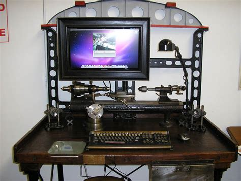 Standup Desk steampunk contraptions take over tattoo studio wired