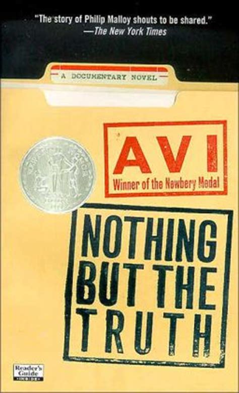 the nothing books nothing but the a documentary novel by avi