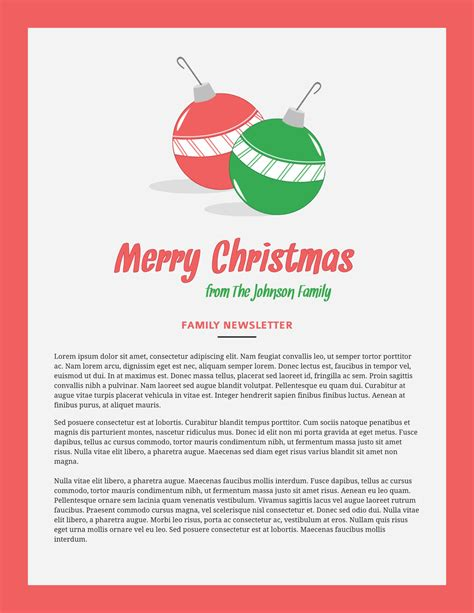 Free Printable Newsletter Templates Email Newsletter Exles Merry Business Letter Template