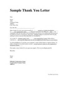 Thank You Letter For Response Sle Thank You Letter Sle Letter With