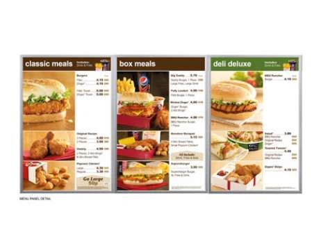 product layout of kfc winners 2013 point of sale dba design effectiveness awards