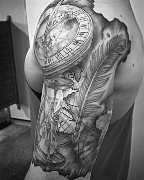 pen tattoo sleeve 50 quill tattoo designs for men feather pen ink ideas