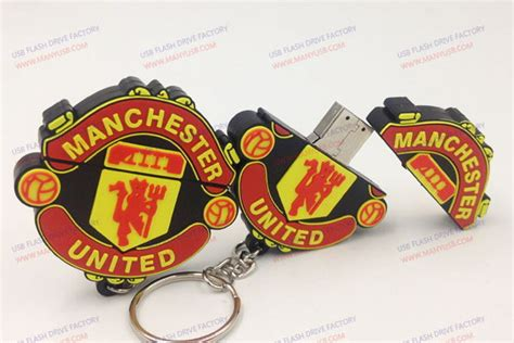 Custom Manchester United custom manchester united emblem shaped usb flash drives