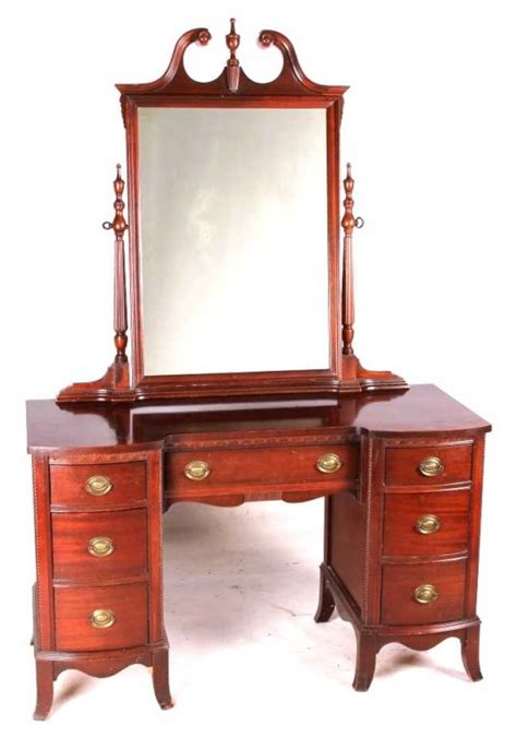 Vanity Company by Antique Hickory Mfg Mahogany Vanity