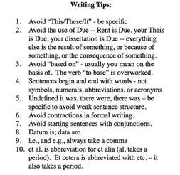 Tips On Writing A Dissertation Thesis Writing Tips
