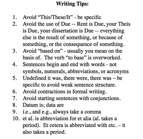 dissertation tips thesis writing tips
