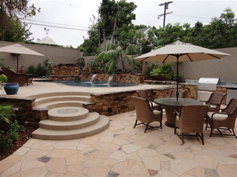 Backyard Pool And Spa Backyard Pool And Spa Entertainment Backyard With Pool And Spa Gemini 2 Landscape Construction