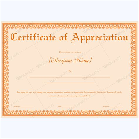 certificate editable template sle appreciation certificates templates 28 images sle