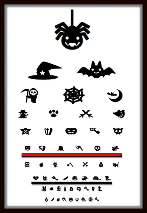 halloween eye chart printable from gardners 2 bergers halloween eye chart printable