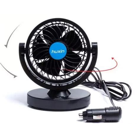 Kipas Mobil huxin kipas mobil 360 degree mini electric car fan black