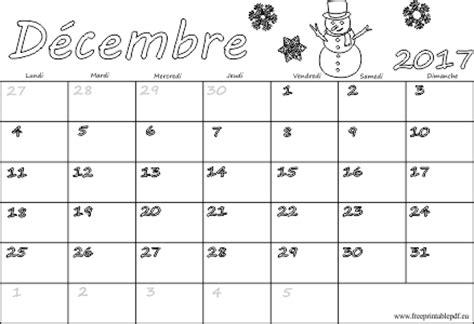 calendrier janvier 2017 a imprimer