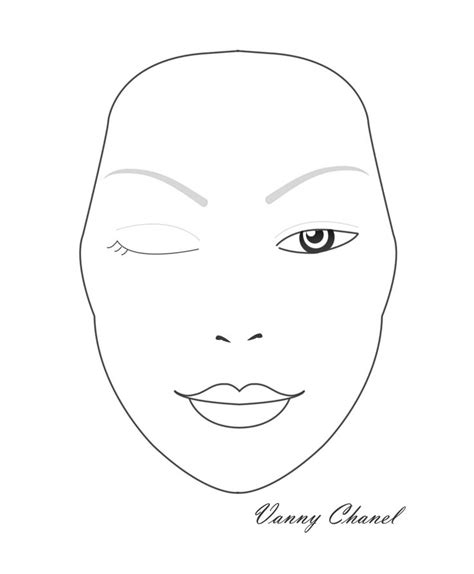 blank face charts images