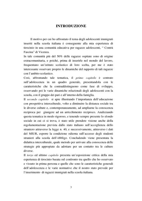 testi sull adolescenza adolescenti immigrati nella scuola italiana tesi di laurea