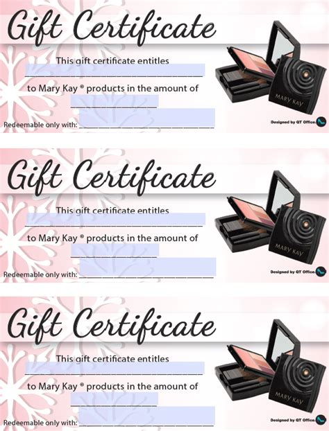 printable gift certificate mary kay 11 best photos of mary kay gift cards printable mary kay