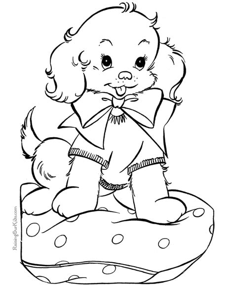 free coloring pages of dogs and puppies puppy coloring page 037