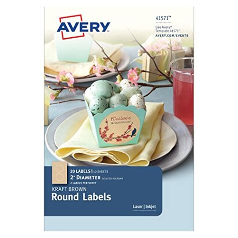 Avery Pearlized Scallop Round Labels 2 5 Inch Diameter Pack Of 72 8214 Avery Scallop Labels Template