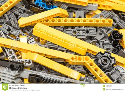 lego technic pieces lego technic pieces pile up editorial stock image