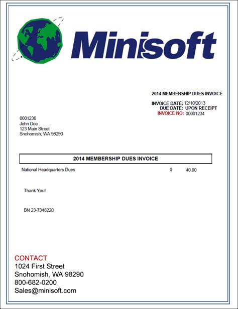 membership invoice template invoice template 2017