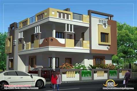 home design duplex house plan and elevation sq ft kerala