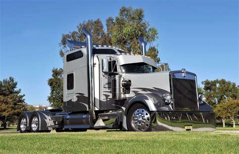 kw box truck custom kenworth w900l custom big rigs