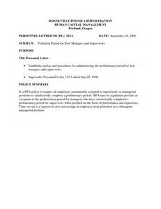 probationary period template best photos of employee probation letter sle employee