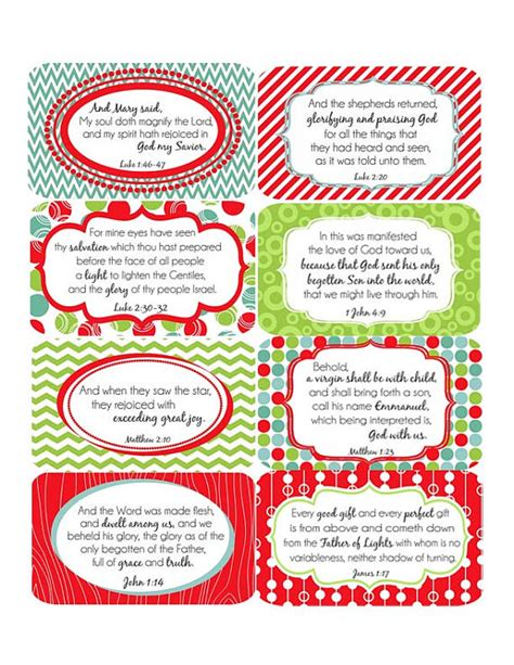 printable christian christmas gift tags a set of 8 scripture cards designed to help you focus on