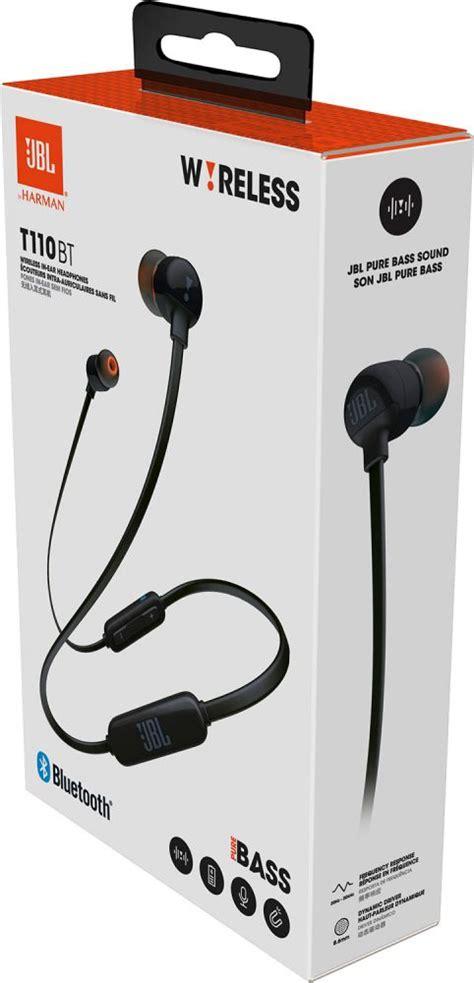 Headset Jbl T110 jbl t110 black bluetooth in ear earphones in ear
