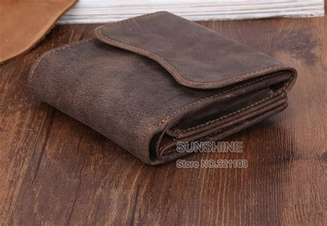 Mens Handmade Leather Wallet - vintage handmade real leather wallets