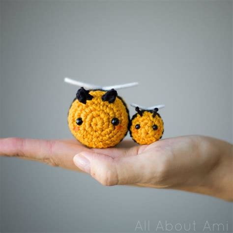 Set Ami Bee amigurumi bees pattern bumble bee all about ami